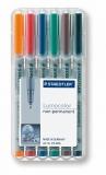 Marker non-permanent Lumocolor 0.4 mm 6 culori/set Staedtler