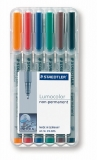Marker non-permanent Lumocolor 1 mm 6 culori/set Staedtler