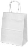 Sacosa din hartie, 15 x 8 x 20 cm, culoare alb