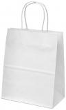 Sacosa din hartie, 18 x 8 x 25 cm, culoare alb