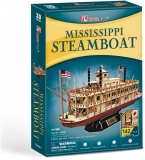 Puzzle 3D Nava Mississippi Steamboat Usa 142 Piese Cubicfun