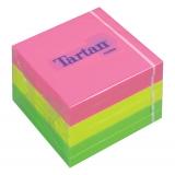 Cub notite adezive culori neon 76 mm x 76 mm 400 file/cub Tartan 3M