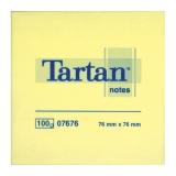 Notite adezive galbene 76 mm x 76 mm 100 file/bloc Tartan