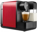 Espressor capsule Tchibo Cafissimo milk red, cu rezervor lapte 400 ml pentru Cappuccino si 3 nivele de presiune, culoare rosu
