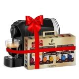 Espressor Tchibo Caffisimo Easy Black + Set capsule cafea Tchibo Cafissimo Clasic 7 cutii/set