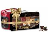 Espressor Tchibo Caffisimo Cafissimo mini Salsa red + Set capsule cafea Tchibo Cafissimo Premium Collection 6 cutii/set