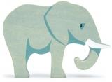 Figurina din lemn premium, Elefant, Tender Leaf Toys
