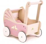 Carucior, din lemn premium Sweetiepie Dolly Pram, Tender Leaf Toys