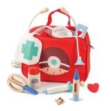 Geanta medicala cu 12 instrumente medicale, din lemn premium Tender Leaf Toys