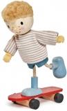 Figurina Edward si Skateboard-ul, din lemn premium, Tender Leaf Toys