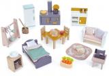 Set mobilier principal, din lemn premium, Cottontail Cottage Tender Leaf Toys