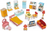 Set mobilier principal , din lemn premium, Foxtail Villa Tender Leaf Toys