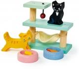 Set figurine pisici, din lemn premium, Tender Leaf Toys