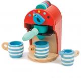 Aparat pentru espresso, din lemn premium, Espresso Machine Tender Leaf Toys