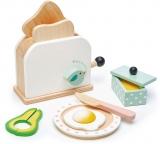 Prajitor de paine, din lemn premium, Breakfast Toaster Tender Leaf Toys