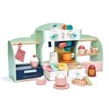 Cofetaria Cuibul pasarilor, din lemn premium, Mini Chef Birds Nest Café Tender Leaf Toys