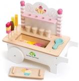 Caruciorul cu inghetata din lemn premium, Ice Cream Cart Tender Leaf Toys