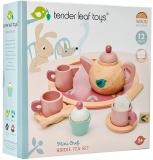 Set de joaca pentru servit ceai din lemn premium, 8 piese, Tender Leaf Toys