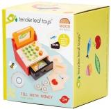 Casa de marcat din lemn premium, Till with Money, Tender Leaf toys