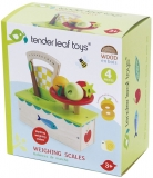 Cantar din lemn premium, 4 piese, Weighing Scales, Tender Leaf Toys