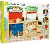 Magazin cu teatru de marionete din lemn premium, Woodland Stores and Theatre, Tender Leaf Toys