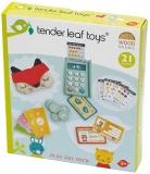 Set de joaca Terminal cititor de card din lemn premium, 21 piese, Play Pay pack, Tender Leaf Toys