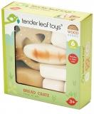 Set de joaca Produse patiserie din lemn premium, 6 piese, Tender Leaf Toys