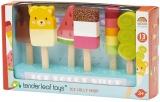 Set de joaca Inghetate pe bat din lemn premium, Ice Lolly Shop, Tender Leaf Toys