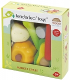 Set de joaca Legume din lemn premium, Veggie Crate, Tender Leaf Toys