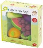 Set de joaca Fructe din lemn, Veggie Crate, Tender Leaf Toys