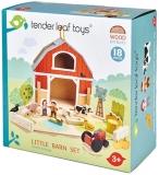 Set de joaca Micul Hambar din lemn premium, 18 piese, Little Barn, Tender Leaf Toys