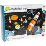 Set de joaca Aventura in spatiu, 6 piese, Tender Leaf Toys