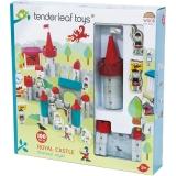 Set de joaca, Castel Regesc din lemn premium, 100 piese, Tender Leaf Toys