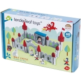 Set de joaca, Castelul lupilor din lemn premium, 40 piese, Tender Leaf Toys