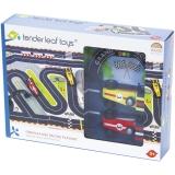 Set de joaca Circuit Formula 1 din lemn premium, 12 piese, Tender Leaf Toys