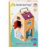 Set de joaca Monstruletii din cutia incuiata, din lemn premium, Tender Leaf Toys