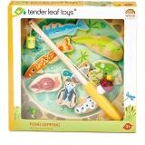 Set de joaca Pescarul cu magneti din lemn premium, 10 piese, Tender Leaf Toys