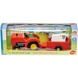 Set de joaca Tractor cu remorca din lemn premium, 5 piese, Tender Leaf Toys