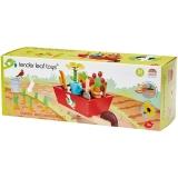 Set de joaca Roaba cu unelte de gradinarit din lemn premium, 31 piese, Tender Leaf Toys