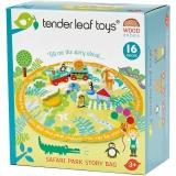 Set de joaca Sacul cu povesti din lemn premium, 16 piese, Tender Leaf Toys