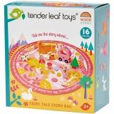 Set de joaca Sacul cu basme, din lemn premium, 16 piese, Tender Leaf Toys