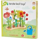 Set de joaca Patul de flori din lemn premium, 12 piese, Tender Leaf Toys