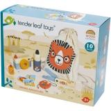 Set de joaca Kitul exploratorului safari, din lemn premium, 10 piese, Tender Leaf Toys