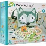 Set de joaca Kitul excursionistului in padure, din lemn premium, 10 piese, Tender Leaf Toys