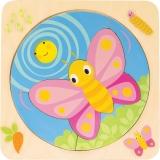 Puzzle educativ, din lemn, Dezvoltarea Fluturelui, Tender Leaf Toys