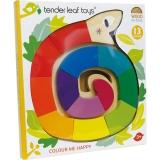 Sarpe colorat din lemn premium, 13 piese, Tender Leaf Toys