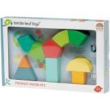 Set de constructie magnetic, din lemn premium, 10 piese, Primary Magblocks, Tender Leaf Toys