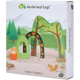 Set de joaca Tunel in padure din lemn premium, Tender Leaf Toys