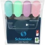 Textmarker Job Pastel 4 buc/set Schneider