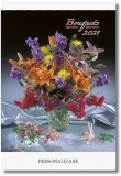 Calendar cu magnet Bouquets, 9 x 12 cm, 12 file, 2021